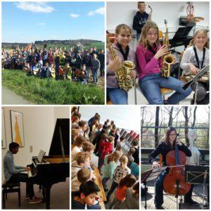 Collage Förderung des Fach Musik