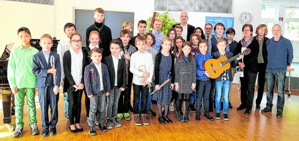"""Beim Konzert in Heinsberg begeisterten junge Musiker, die beim Regionalwettbewerb """"Jugend musiziert"""" mit einem ersten Preis bedacht wurden. Foto: Anna Petra Thomas"""
