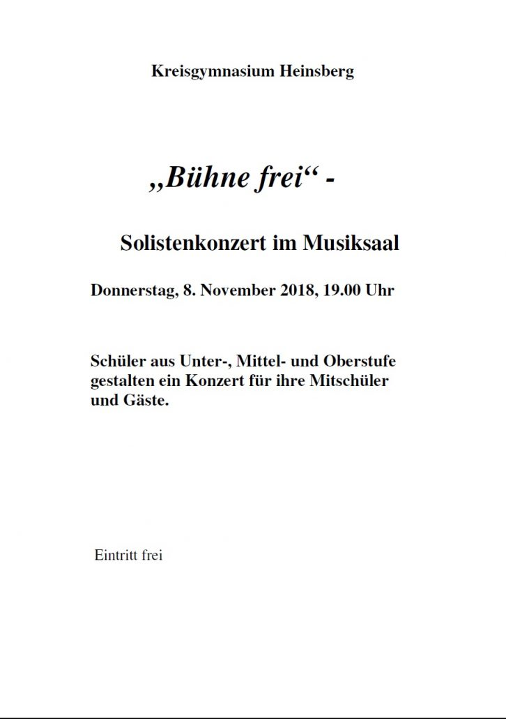 Solistenkonzert 2018